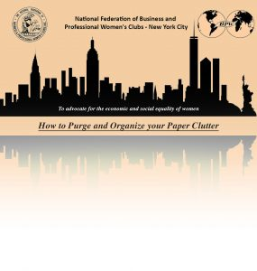 How to Purge and Organize your Paper Clutter @ Zoom Meeting